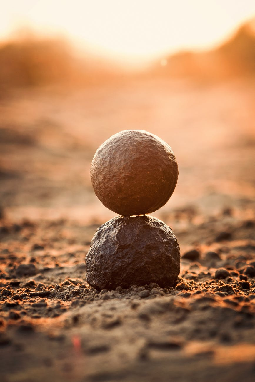 Innerlijke harmonie foto stenen levenscoaching